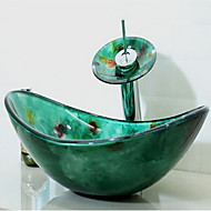 Modern 1.2*54*36*16.5 Rechthoekig sink Materiaal is Gehard Glas Badkamer Wastafel Badkamer Kraan Badkamer Montagering Badkamer Waterafvoer