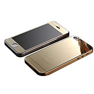 billige -speil farge plating anti eksplosjon glass beskyttelse film (foran og bak) for iPhone 5 / 5s