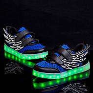 baratos Sapatos de Menino-Para Meninos / Para Meninas Sapatos Sintético / Couro Ecológico Primavera Conforto / Tênis com LED Tênis Velcro para Verde / Azul / Coral