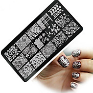 Nail Art Stamping Placa Stamper raspador 12*6
