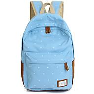 billige Skoletasker-Dame Tasker Nylon Skoletaske for Shopping / udendørs Blå / Lys pink / Marineblå