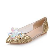 cheap Women's Flats-Women's Shoes Latex / Glitter / Customized Materials Seasons Comfort / Ballerina / Pointed Toe FlatsWedding /