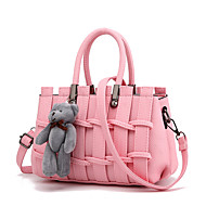 Mulher Bolsas Outono Couro Ecológico Bolsa de Ombro Fru-Fru para Compras Casual Formal Bege Rosa claro Rosa escuro Cinza Claro Lavanda