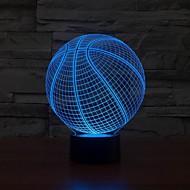 3d basketball form førte kunst skulptur natt lys bordlampe 3d visualisering hjemme farge endring Nattlys