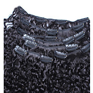 3B 3C Kinky Curly Clip In Human Hair Extensions 7PCS Peruvian Kinky Curly Hair 6A Hair Clip In Natural Hair Extensiosn