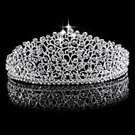 billiga Brudhuvudbonader-Bergkristall / Legering Tiaras med 1 Bröllop Hårbonad