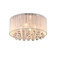 4 lys enkel rund børstet krystall flush mount lysekrone høy kvalitet