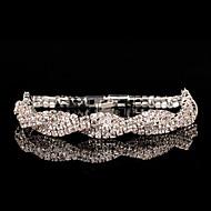 Brățări Pentru femei Lanț Argintiu Ștras