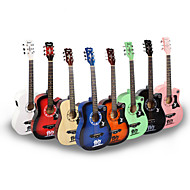 preiswerte Musik Instrumente-Professional Gitarre 38 Inch Gitarre Holz Mehrfarbig / für Anfänger Musikinstrumente Zubehör