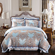 Good fabric Luxury Silk Cotton Blend Duvet Cover Sets Queen King Size Bedding Set