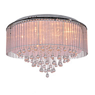Flush Mount ,  Modern/Contemporary Electroplated Feature for Crystal Metal Living Room Bedroom Dining Room
