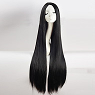 Cheap Women Synthetic Wigs Cos Wig Black in Long Straight Hair Wig 100cm Long Wig