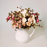 1 1 şube Polyester / Plastik Camellia Masaüstü Çiçeği Yapay Çiçekler 13.7inch/35cm