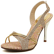 cheap Women's Shoes-Women's Shoes Glitter Spring Summer Gladiator Sandals Stiletto Heel for Casual Office & Career Party & Evening Dress Gold