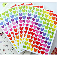 Sør-Korea morsom kjærlighets klistremerker fargepunkter / kjærlighet / stjerne dekorative klistremerke album