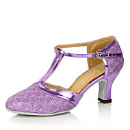 Mulheres Sapatos de Dança Moderna Glitter Salto Interior / Espetáculo Presilha / Vazados Salto Personalizado Personalizável Sapatos de