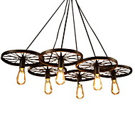 cheap Chandeliers-Rustic/Lodge Vintage Island Mini Style Chandelier Downlight For Living Room Bedroom Dining Room Study Room/Office Kids Room 110-120V