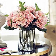 5 haara Silkki Hortensiat Pöytäkukka Keinotekoinen Flowers 46CM