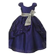 Vestido de vestidos de noiva com vestido de bola vestido de garota de flor - tafetá mangas curtas pescoço de colher por thstylee