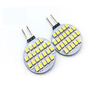 billige Bi-pin lamper med LED-2W G4 LED-lamper med G-sokkel T 24 leds SMD 3528 Dekorativ Varm hvit Kjølig hvit 200lm 3000/6000K DC 12V