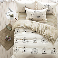Striped brief style 4piece bedding sets print duvet cover Sets 100% Cotton Bedding Set Queen Size