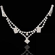billiga Brudhuvudbonader-Bergkristall Legering Huvudkedja 1 Bröllop Speciellt Tillfälle Hårbonad