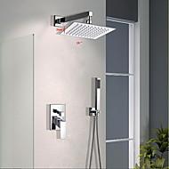 tanie Baterie prysznicowe-Bateria prysznicowa - Nowoczesny Chrom Ścienny Zawór mosiężny / Mosiądz / Jeden uchwyt Trzy otwory