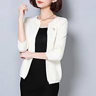 Dame Street I-byen-tøj Normal Cardigan Ensfarvet,Rosa / Hvid / Grå U-hals Langærmet Akryl Forår / Efterår Medium
