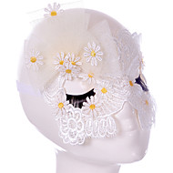 billige -Lace Mask 1pc Holiday dekorasjoner fest Masker Cool / Mote En Størrelse Hvit Blonder
