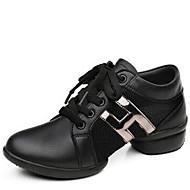 billige Dansesneakers-Dame Moderne sko Syntetisk Joggesko / Splitt såle Snøring Lav hæl Kan ikke spesialtilpasses Dansesko Hvit / Svart
