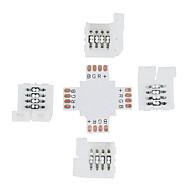 5pcs 10 milímetros 4 pinos + forma de cruz levou conector para 5050 de cor RGB levou tiras