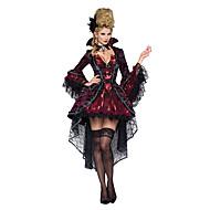 Dronning Spøgelse Zombie Vampyr Cosplay Kostumer Festkostume Kvindelig Halloween Jul Karneval Festival/Højtider Halloween Kostumer Rød