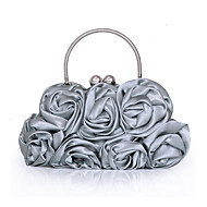 cheap Wedding Bags-Women's Bags Other Leather Type / Satin Evening Bag Flower / Ruffles for Wedding / Event / Party / Casual Red / Pink / Champagne