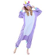 Kigurumi Pijamalar Unicorn Strenç Dansçı/Tulum Festival / Tatil Hayvan Sleepwear Halloween Pembe Mavi Mor Hayvan Desenli Polar Kumaş