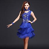 Latin dans elbiseleri kadın performans elbise boyunbağı bilezikleri mi