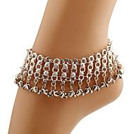 נשים תכשיט לקרסול/צמידים מצופה כסף סגסוגת גדילים גילוי תכשיטים אופנתי כסף נשים תכשיטים יומי קזו'אל 1pc