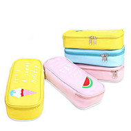 Simple Large Capacity Fruit Candy Colored Pencil Case For Male And Female Students