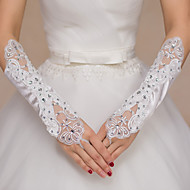 cheap Wedding Gloves-Polyester Opera Length Glove Bridal Gloves Party/ Evening Gloves With Rhinestone