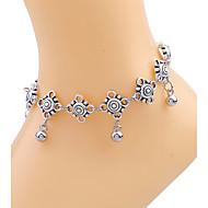 נשים תכשיט לקרסול/צמידים ציפוי זהב סגסוגת עיצוב מיוחד סקסית סגנון בוהמיה אופנתי ארופאי תכשיטים טיפה תכשיטים תכשיטים עבור יומי קזו'אל חוף