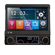 7 palců odpojitelný 1 DIN auto DVD přehrávač multimediální systém proti krádeži GPS satelitní navigační bluetooth ex-tv zrcadlo-link 7