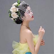 billiga Brudhuvudbonader-Nät Birdcage slöjor med 1 Bröllop / Speciellt Tillfälle Hårbonad