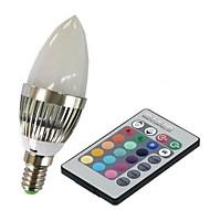 E14 LEDスマート電球 C35 1 LEDの ハイパワーLED リモコン操作 RGB 100-230lm 2000-5000K AC 85-265V