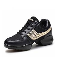 billige Dansesneakers-Herre Dansesko / Moderne sko Kunstlær Oxford / Støvler / Joggesko Flat hæl Kan ikke spesialtilpasses Dansesko Grå / Gylden / Trening