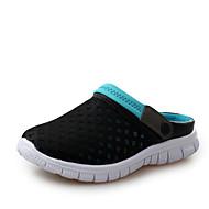 샌들-캐쥬얼-남성-구멍 신발-튤-플랫-블루 그린 핑크 레드