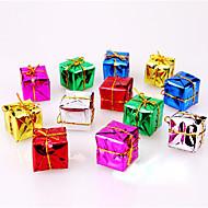 12pcs christmas decoração presentes papel ofing Ornamento cor presente de Natal aleatório