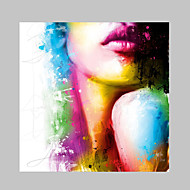 IARTS®Fashion Beauty Halter Top Lips Oil Painting Colorful Designs Nice Wall Art