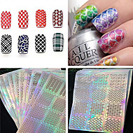 1PCS New Manicure Sticker 3D Hollow Nail Polish Stamp Printing Template Laser Hollow DIY Creative