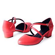 baratos Sapatilhas de Dança-Sapatos de Dança(Vermelho) -Feminino-Personalizável-Sapateado