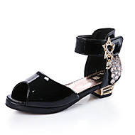 女の子 靴 レザーレット 夏 アイデア サンダル パール 用途 カジュアル ホワイト ブラック レッド