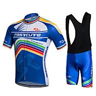 Fastcute Muškarci Kratkih rukava Biciklistička majica s kratkim tregericama - Obala Bicikl Kratke hlače Bib Shorts Bib Hulahopke